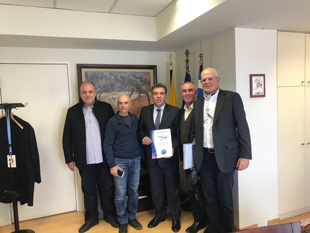 Συνάντηση του Πανελλήνιου Συνδέσμου Εκμισθωτών Θαλασσίων Μέσων Αναψυχής με τον Υφυπουργό Τουρισμού, κ. Εμμανουήλ Κόνσολα