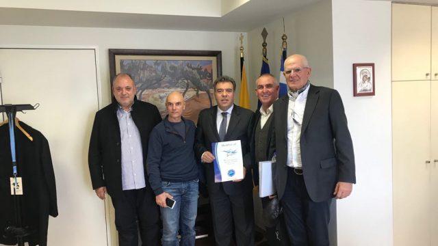 Συνάντηση του Πανελλήνιου  με τον Υφυπουργό Τουρισμού, κ. Εμμανουήλ Κόνσολα